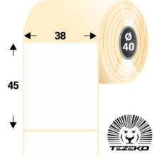 38 * 45 mm, samolepiace papierové etikety (1250 etikiet/kotúč)