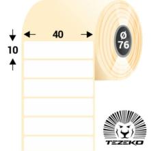 40 * 10 mm, samolepiace papierové etikety (12500 etikiet/kotúč)