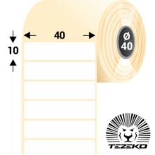 40 * 10 mm-ové, samolepiace papierové etikety (2000 etikiet/kotúč)