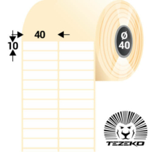 40 * 10 mm-ové, samolepiace papierové etikety (11000 etikiet/kotúč)