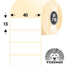 40 * 15 mm-ové, samolepiace papierové etikety (7000 etikiet/kotúč)