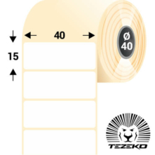 40*15 mm, samolepiace papierové etikety (2000 etikiet/kotúč)