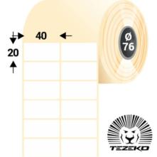 40 * 20 mm, samolepiace papierové etikety (16000 etikiet/kotúč)