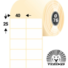 40 * 25 mm, samolepiace papierové etikety (6000 etikiet/kotúč)
