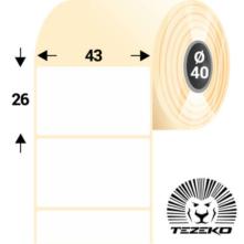 43 * 26 mm-ové, samolepiace papierové etikety (2000 etikiet/kotúč)