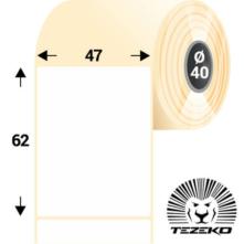 47 * 62 mm-ové, samolepiace papierové etikety (1000 etikiet/kotúč)