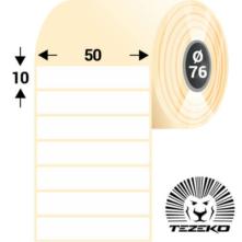 50 * 10 mm-ové, samolepiace papierové etikety (10000 etikiet/kotúč)