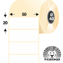 50 * 20 mm-ové, samolepiace papierové etikety (2000 etikiet/kotúč)