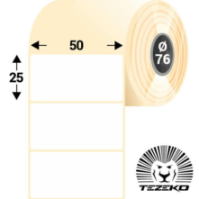 50 * 25 mm-ové, samolepiace papierové etikety (3800 etikiet/kotúč)