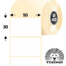 50 * 30 mm-es, öntapadós papír etikett címke (1830 címke/tekercs)