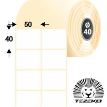 50 * 40 mm-ové, samolepiace papierové etikety (3500 etikiet/kotúč)
