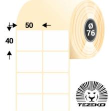 50 * 40 mm, samolepiace papierové etikety (5000 etikiet/kotúč)