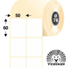 50 * 60 mm-ové, samolepiace papierové etikety (5000 etikiet/kotúč)