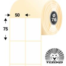 50 * 75 mm, samolepiace papierové etikety (4200 etikiet/kotúč)