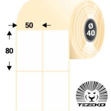 50 * 80 mm-ové, samolepiace papierové etikety (1000 etikiet/kotúč)