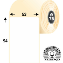 53 * 94 mm, samolepiace papierové etikety (2000 etikiet/kotúč)
