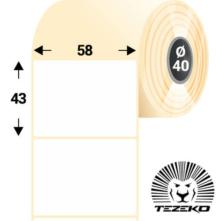 58 * 43 mm-ové, samolepiace papierové etikety (800 etikiet/kotúč)