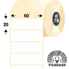 60 * 20 mm, samolepiace papierové etikety (8000 etikiet/kotúč)