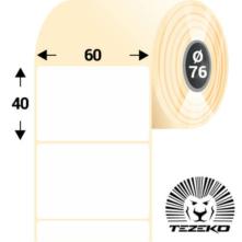 60 * 40 mm, samolepiace papierové etikety (3600 etikiet/kotúč)