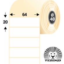 64 * 20 mm-ové, samolepiace papierové etikety (3000 etikiet/kotúč)
