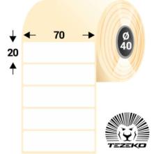 70 * 20 mm-ové, samolepiace papierové etikety (3000 etikiet/kotúč)
