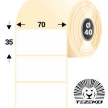 70 * 35 mm, samolepiace papierové etikety (1000 etikiet/kotúč)