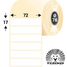 72 * 17 mm-ové, samolepiace papierové etikety (10000 etikiet/kotúč)