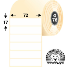 72 * 17 mm, samolepiace papierové etikety (10000 etikiet/kotúč)