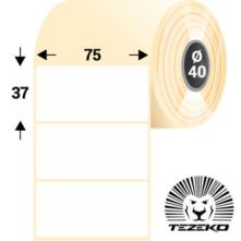 75 * 37 mm-ové, samolepiace papierové etikety (1300 etikiet/kotúč)
