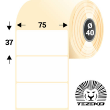75 * 37 mm, samolepiace papierové etikety (1300 etikiet/kotúč)