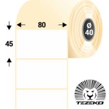 80 * 45 mm, samolepiace papierové etikety (500 etikiet/kotúč)
