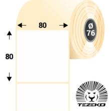 80 * 80 mm-ové, samolepiace papierové etikety (800 etikiet/kotúč)