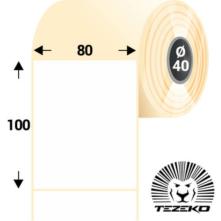 80 * 100 mm-es, öntapadós papír etikett címke (500 címke/tekercs)