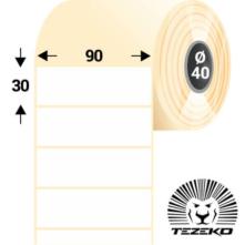 90 * 30 mm-ové, samolepiace papierové etikety (1500 etikiet/kotúč)