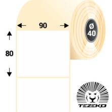90 * 80 mm-ové, samolepiace papierové etikety (800 etikiet/kotúč)