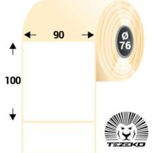 90 * 100 mm-ové, samolepiace papierové etikety (800 etikiet/kotúč)