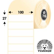 100 * 27 mm, samolepiace papierové etikety (6000 etikiet/kotúč)