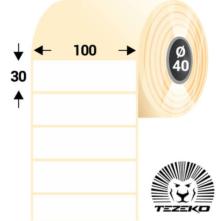 100 * 30 mm-ové, samolepiace papierové etikety (1250 etikiet/kotúč)