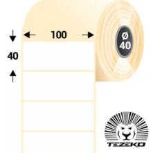 100 * 40 mm-es, öntapadós papír etikett címke (2000 címke/tekercs)