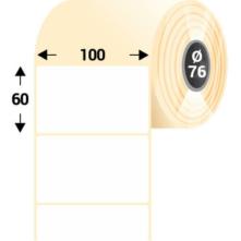 100 * 60 mm-ové, samolepiace papierové etikety (3000 etikiet/kotúč)