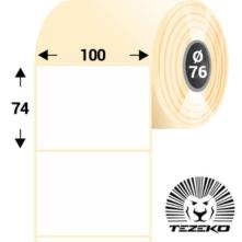 100 * 74 mm-ové, samolepiace papierové etikety (1250 etikiet/kotúč)