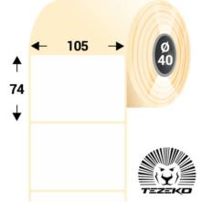 105 * 74 mm, samolepiace papierové etikety (700 etikiet/kotúč)