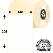148 * 205 mm-ové, samolepiace papierové etikety (800 etikiet/kotúč)
