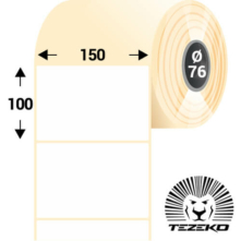 150 * 100 mm, samolepiace papierové etikety (1500 etikiet/kotúč)