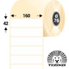 160 * 42 mm-ové, samolepiace papierové etikety (3000 etikiet/kotúč)