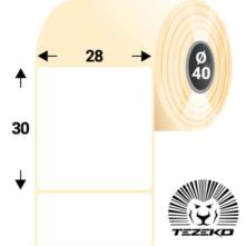28 * 30 mm-es, samolepiace termo etikety (1000 etikiet/kotúč)