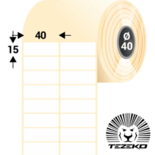 40 * 15 mm-es, samolepiace termo etikety (5500 etikiet/kotúč)