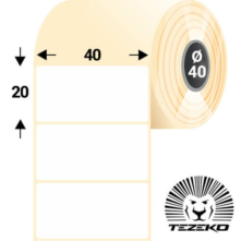 40 * 20 mm, samolepiace termo etikety (1500 etikiet/kotúč)