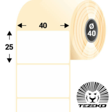 40 * 25 mm, samolepiace termo etikety (1200 etikiet/kotúč)