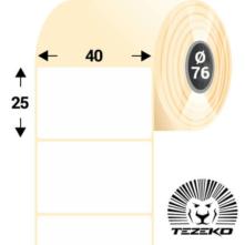 40 * 25 mm-es, öntapadós direkt termál etikett címke (5000 címke/tekercs)
